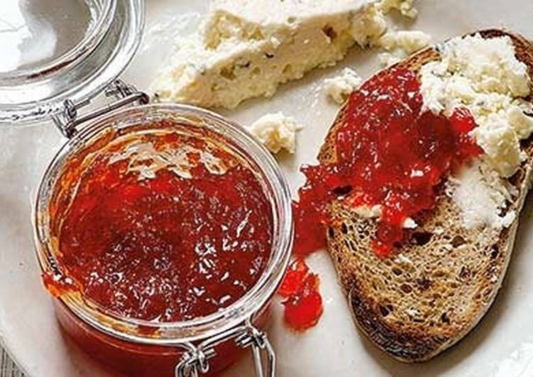 "Recipe of Homemade Thermomix Red Pepper ""jam"". Pimientos confitados"