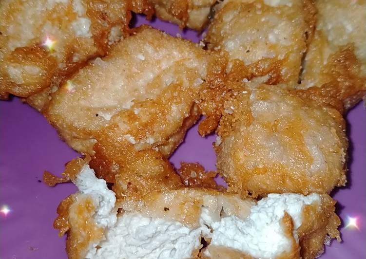 Tahu Susu🥛 Crunchy di Luar Lumer di Dalam