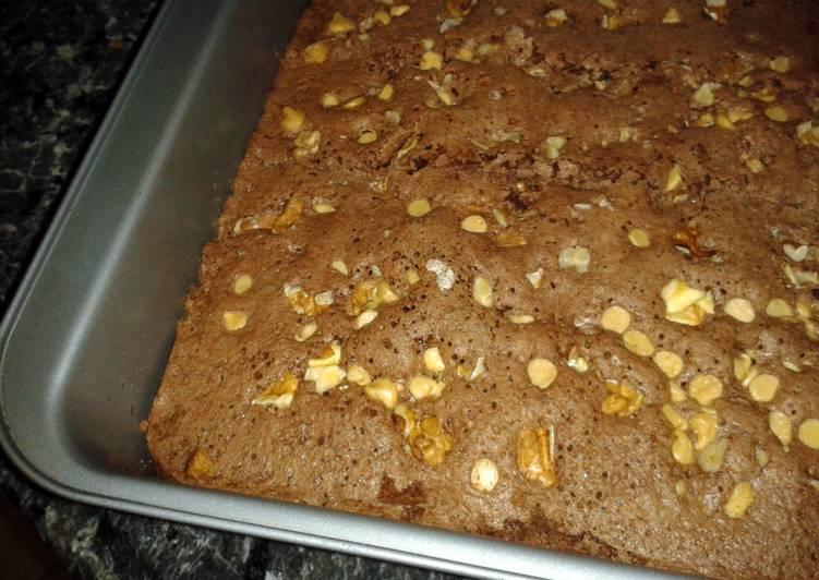 White choc walnut brownie