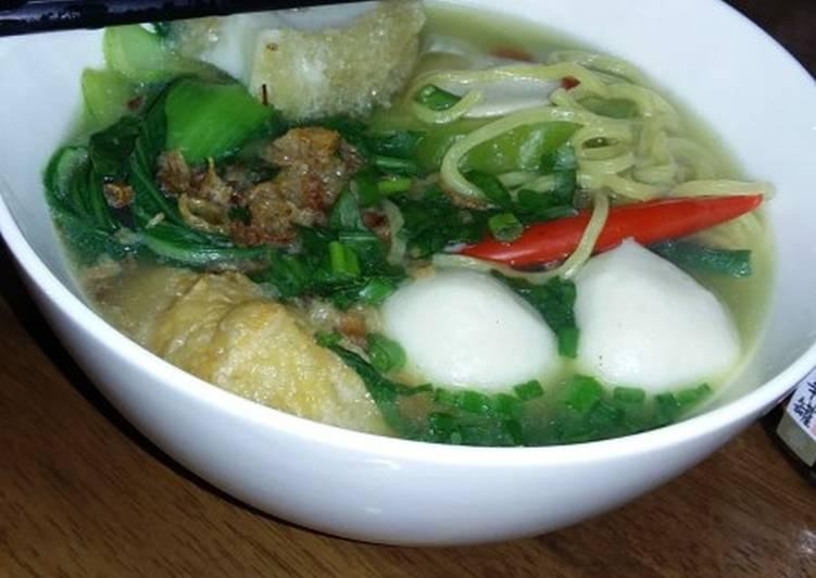 Mi yong tau foo soup (ala singapore)