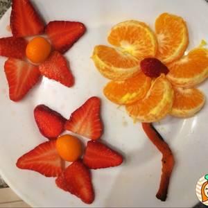 Desayuno o merienda saludable para niños formas con fruta