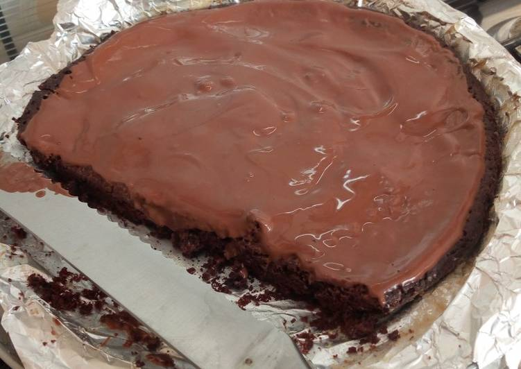 Brownies with ganache
