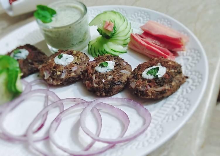 Black chickpeas kabab