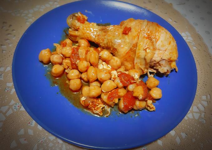 Poulet en sauce relevée 🌶