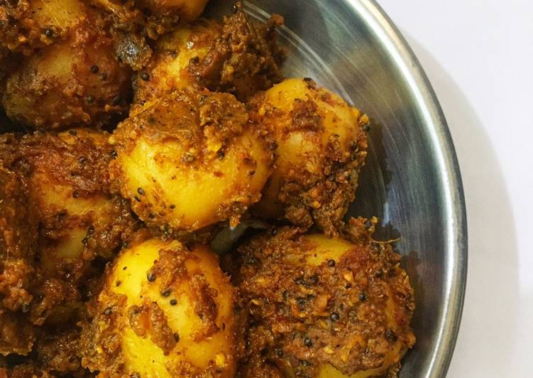 Spicy baby potato curry