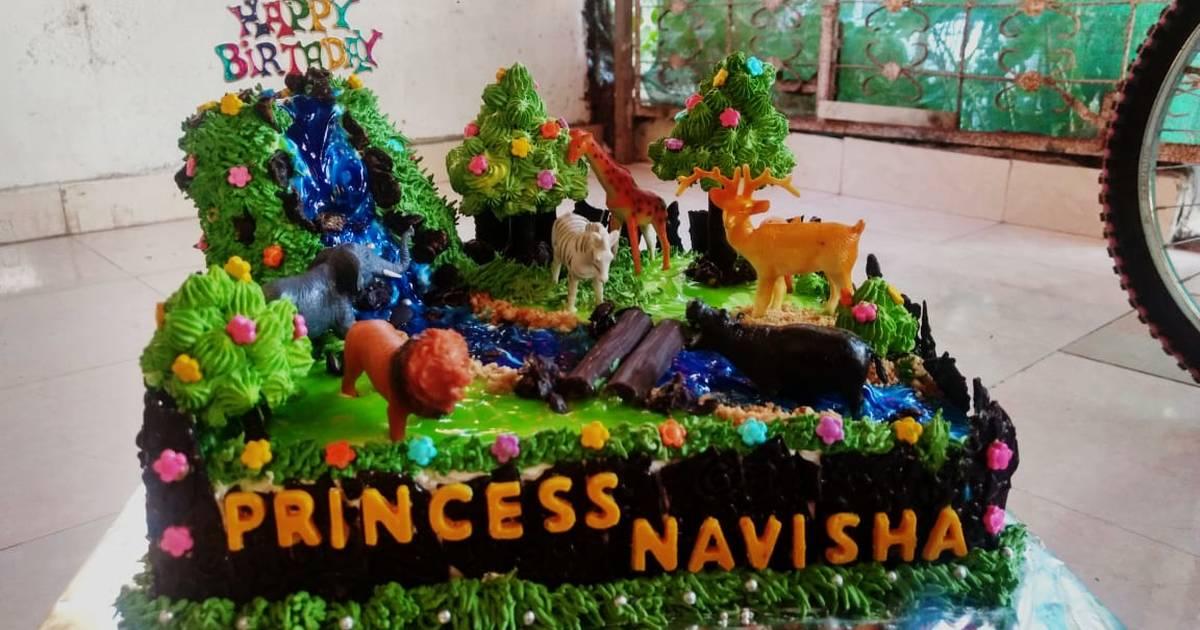 Swell Blackforest Jungle Theme Cake Recipe By Nagu Narware Cookpad Funny Birthday Cards Online Inifofree Goldxyz