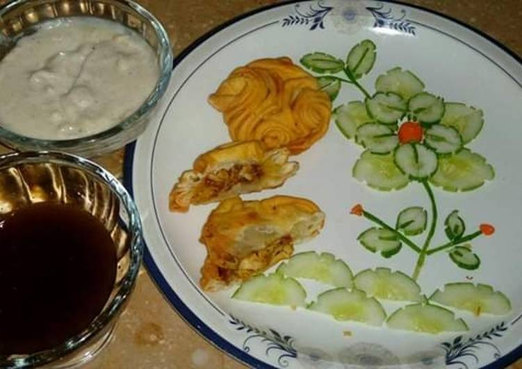 New style chicken kachori #CookpadRamadan #CookpadRamadan k sath