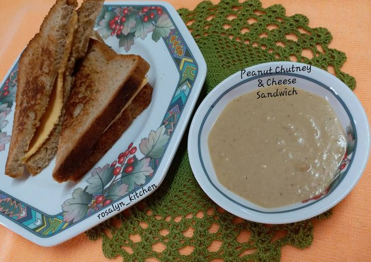 Easiest Way to Make Delicious Peanut Chutney & Cheese Sandwich