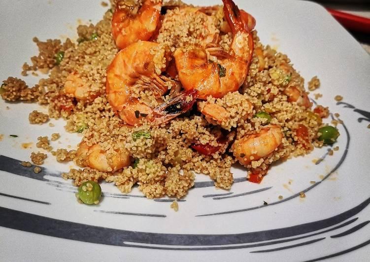 Ricetta Cous cous verdure e gamberoni