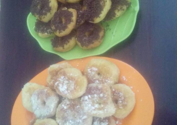 Donat Kentang Suka-suka (crunchy, lembut, kenyaaang)