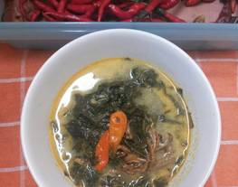 Gulai Daun Singkong (Tips memilih dan merebus daun singkong)