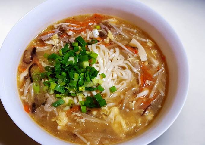 Recipe of Quick Hot and Sour Soup/noodles Taiwanese style