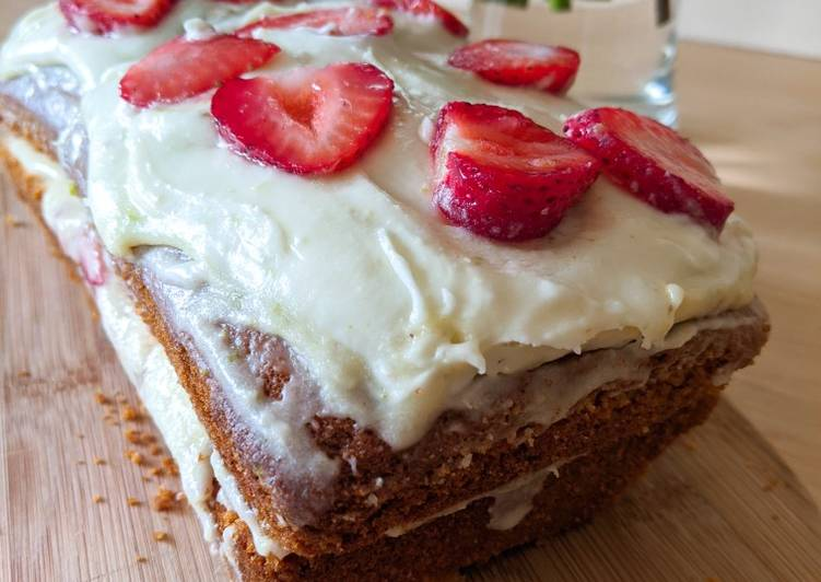How to Make Homemade Lime and Strawberry Madeira Cake
