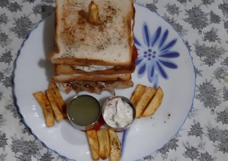 Paneer culb sandwich