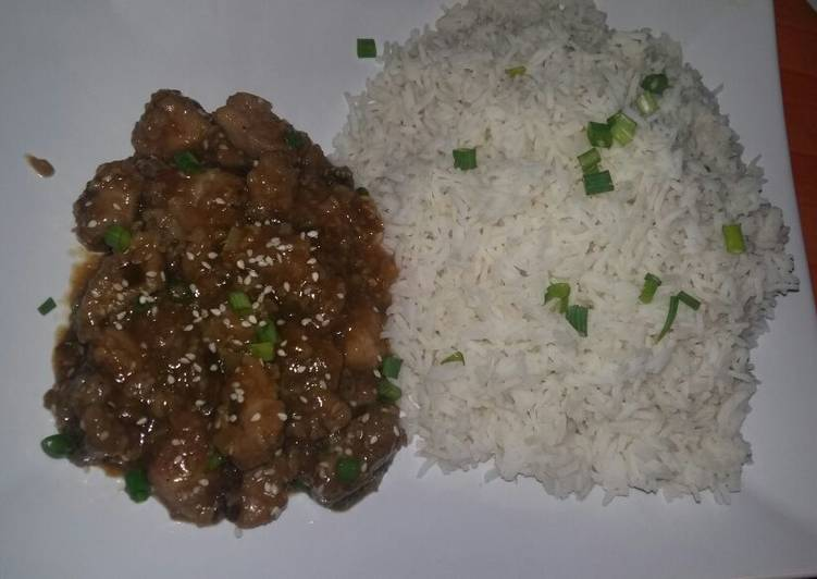 Recipe of Favorite Crispy sesame Pork Sauce with Basmati Rice