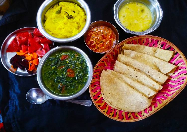 Healthy Gujarati Lunch