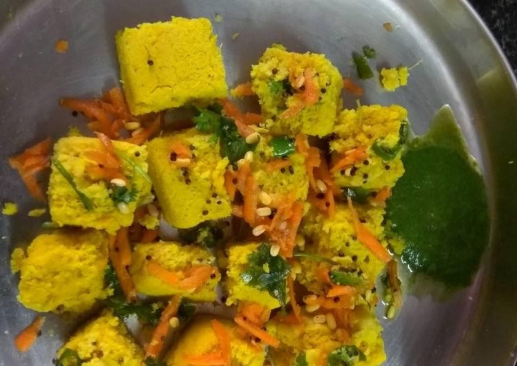 Grandmother's Dinner Ideas Vegan Dokla- Rajasthan special