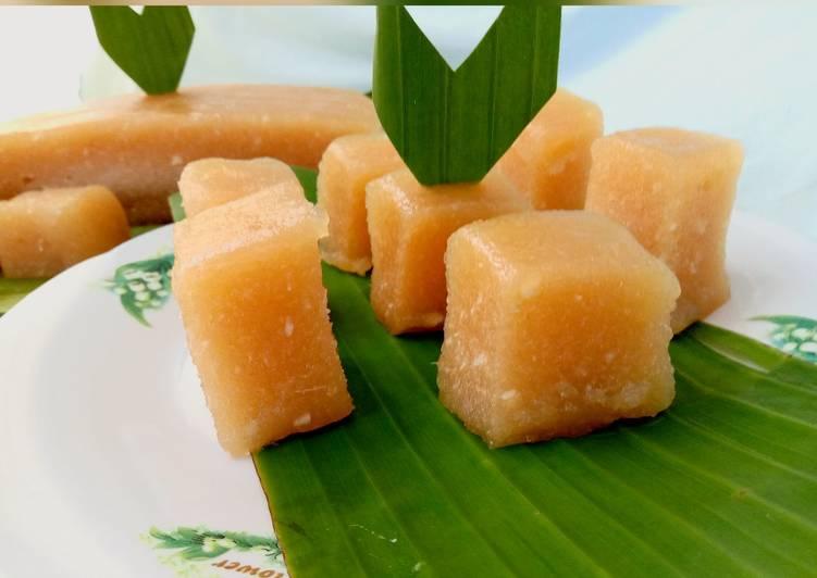 Singkong agar-agar gula merah, manis dan legit