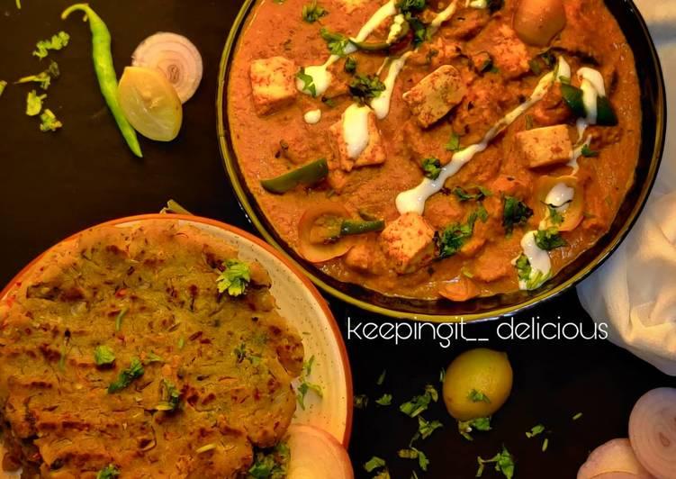 25 Minute How to Make Super Quick Homemade Karnataka famous Akki ki roti with Hyderabadi paneer