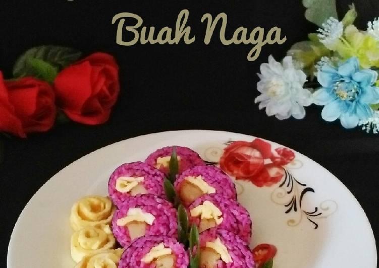 Resep Nasgor Gimbab Buah Naga Bikin Laper
