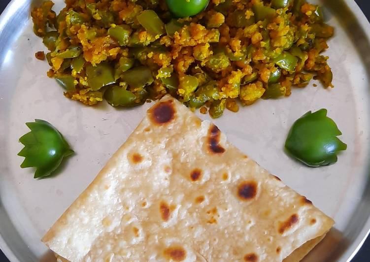 10 Minute Steps to Prepare Special Simla mirch(bell pepper) besan sabji