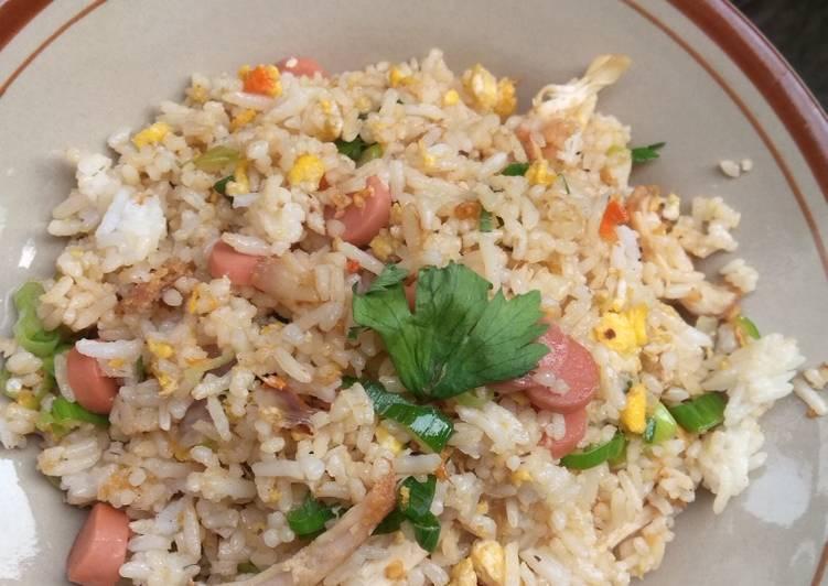 Nasi Goreng sosis tanpa kecap saos