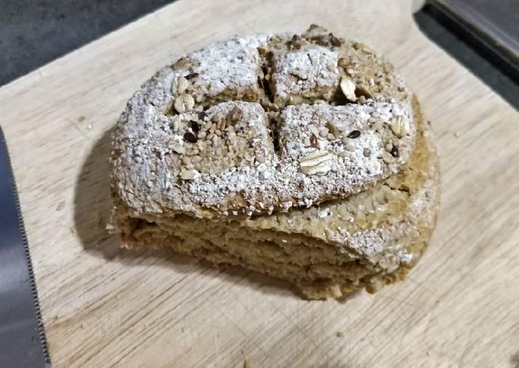 Pan exprés de avena con levadura en polvo o química