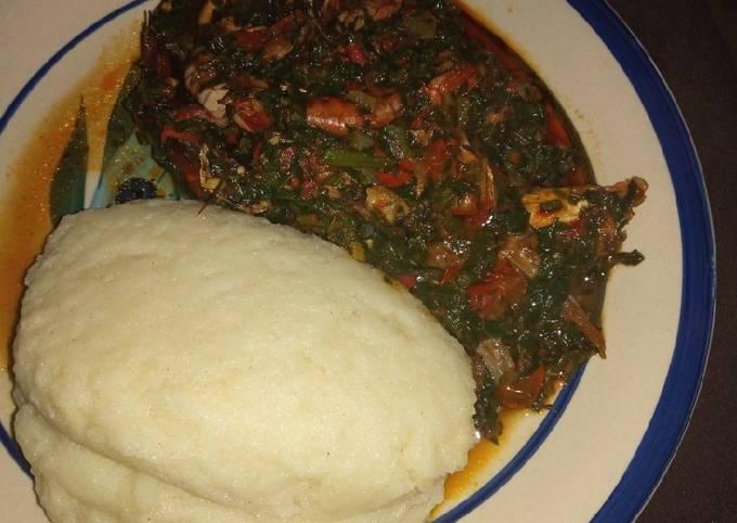 Efo riro olowo pooku (vegetables soup)