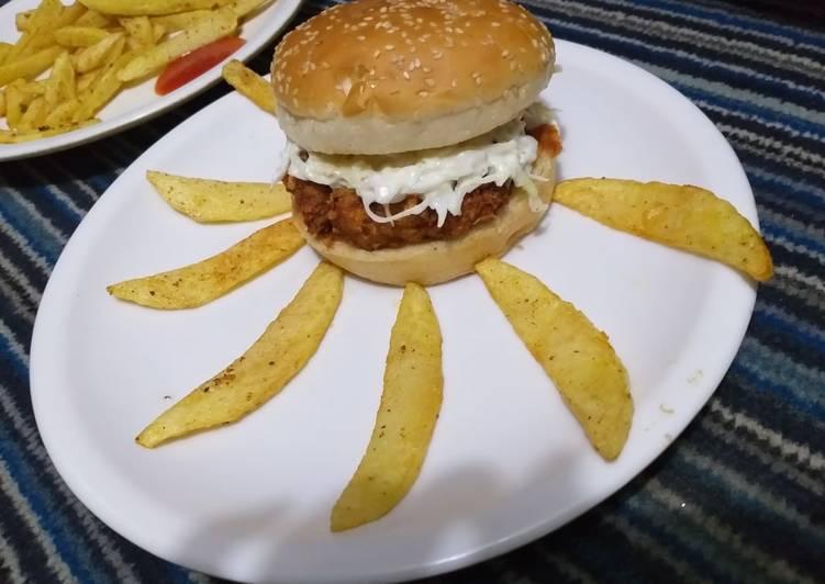 Crispy zinger burger