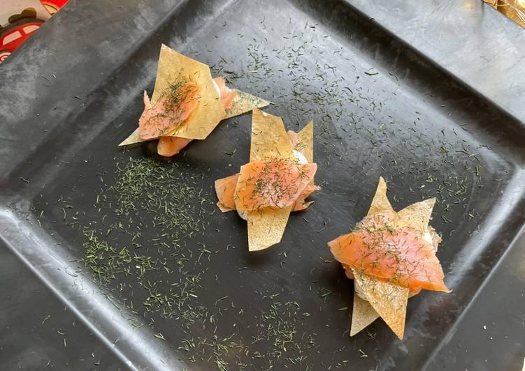 Le moyen le plus simple de Préparer Parfait Bouchées croustillantes au Saumon fumé & crème citronnée à l'aneth