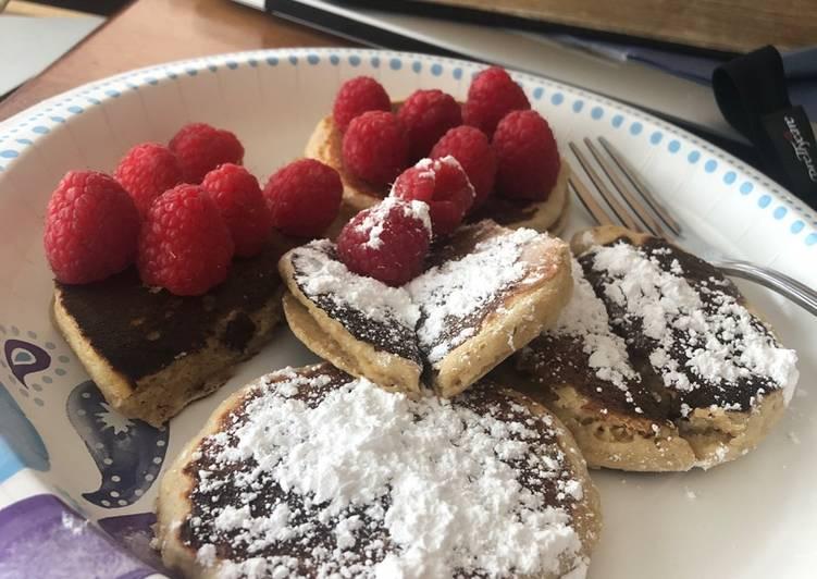 Recipe: Yummy Homemade whole grain pancakes