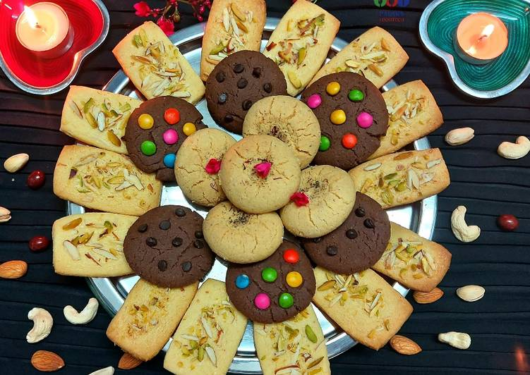 Steps to Prepare Speedy Assorted mixed cookies