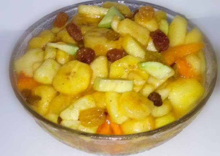 Lemon masala fruit chaat (Ramadan iftar)