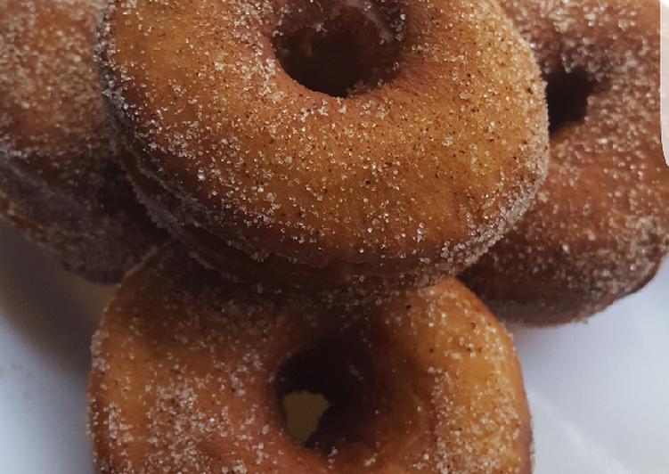 How to Prepare Perfect Cinnamon sugar coated doughnut #kanocookout