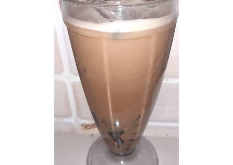 Ice coffee jelly