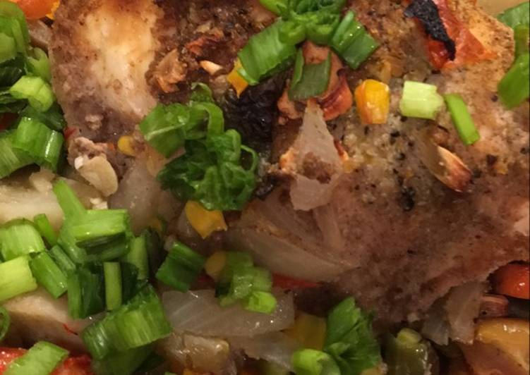 Step-by-Step Guide to Make Favorite Roasted Chicken with Vegetables