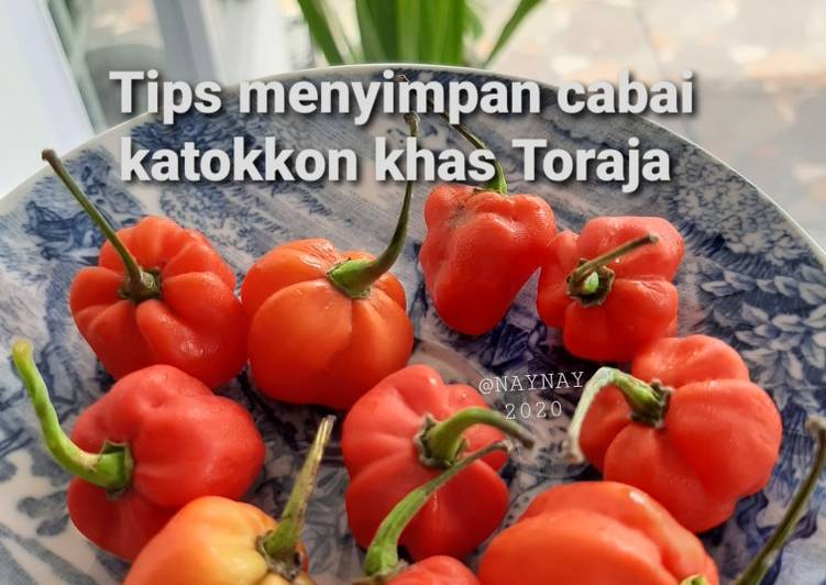 Tips Menyimpan Cabai Katokkon KhasToraja