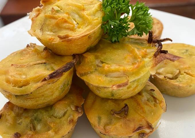 Bakwan Panggang rendah kalori  Less calories vegetable fritters