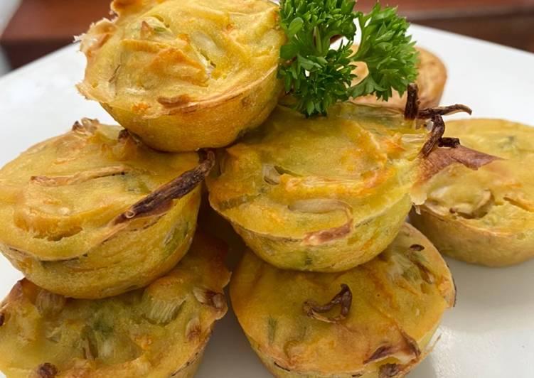 Resep Bakwan Panggang rendah kalori Less calories vegetable fritters Bikin Jadi Laper