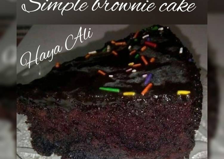 Easiest Way to Prepare Delicious Simple brownie cake