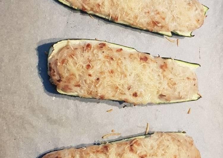 Courgette farcies au thon béchamel gruyère