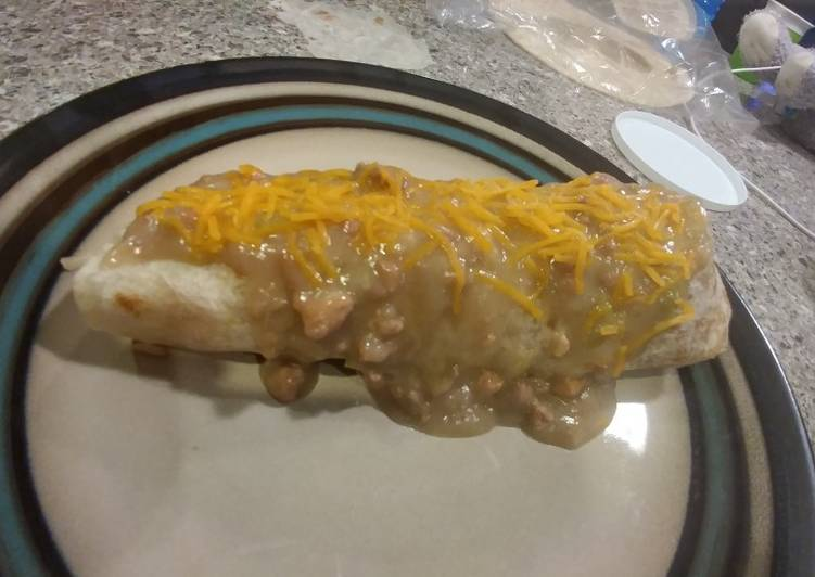 How to Make Yummy Smothered Green Chile Steak burritos