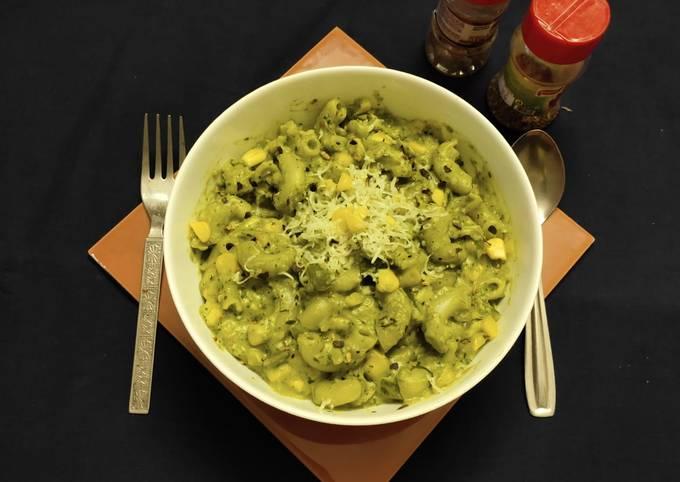 Corn spinach pasta