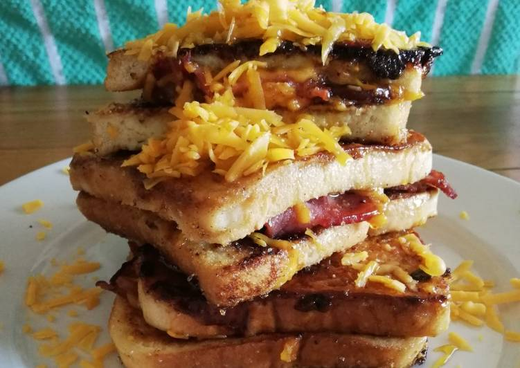 Cinnamon Sugar, Bacon and Cheese French Toast