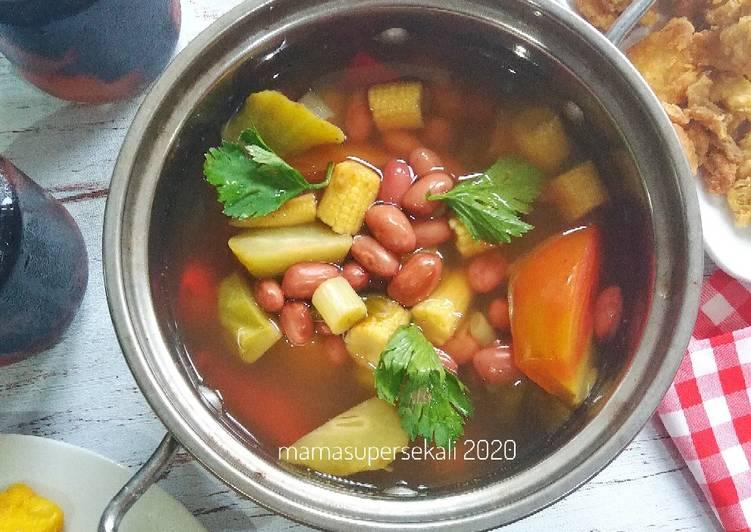 Kacang merah sayur asem bumbu cemplung