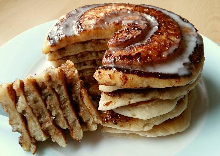 Healthy Recipe: Appetizing Vickys Cinnamon Roll Pancakes, GF DF EF SF NF