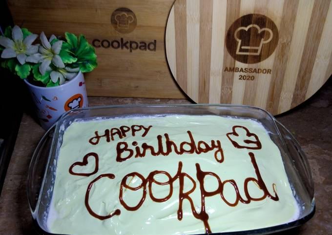 Three milk cake with Cookpad 🧡