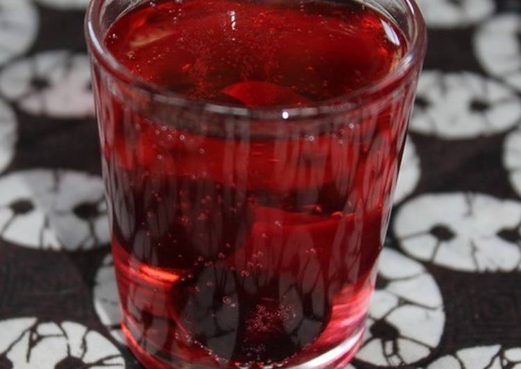 Recipe of Simple Cherry Fizzy Drink