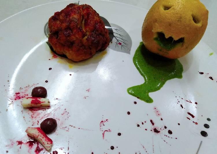 Spooky Halloween with bheja fry