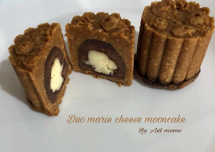 Duo Marie Cheese Mooncake (no bake)